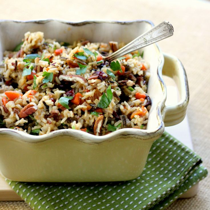 Wild Rice with cranberries, figs and pecans (substitute figs for ...