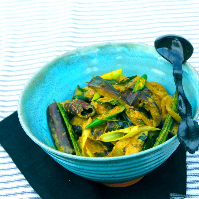 Eggplant Pahi. Sri Lankan Eggplant Curry With Fragrant Pickling Spices ...