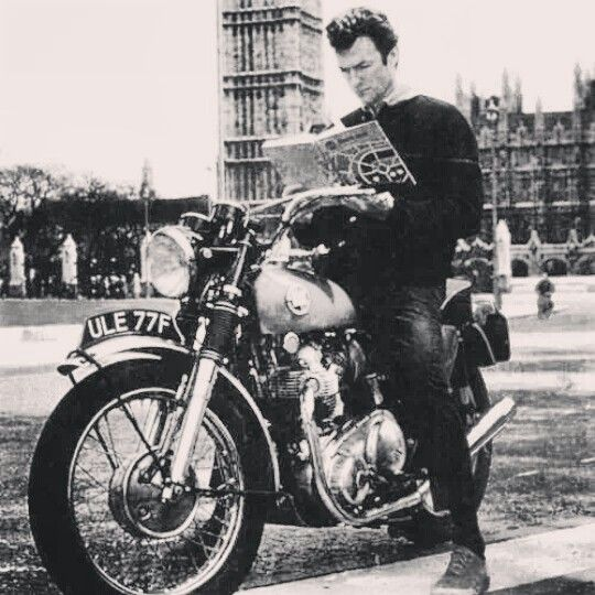 Clint Eastwood cafe racer style | cafer racer | Pinterest