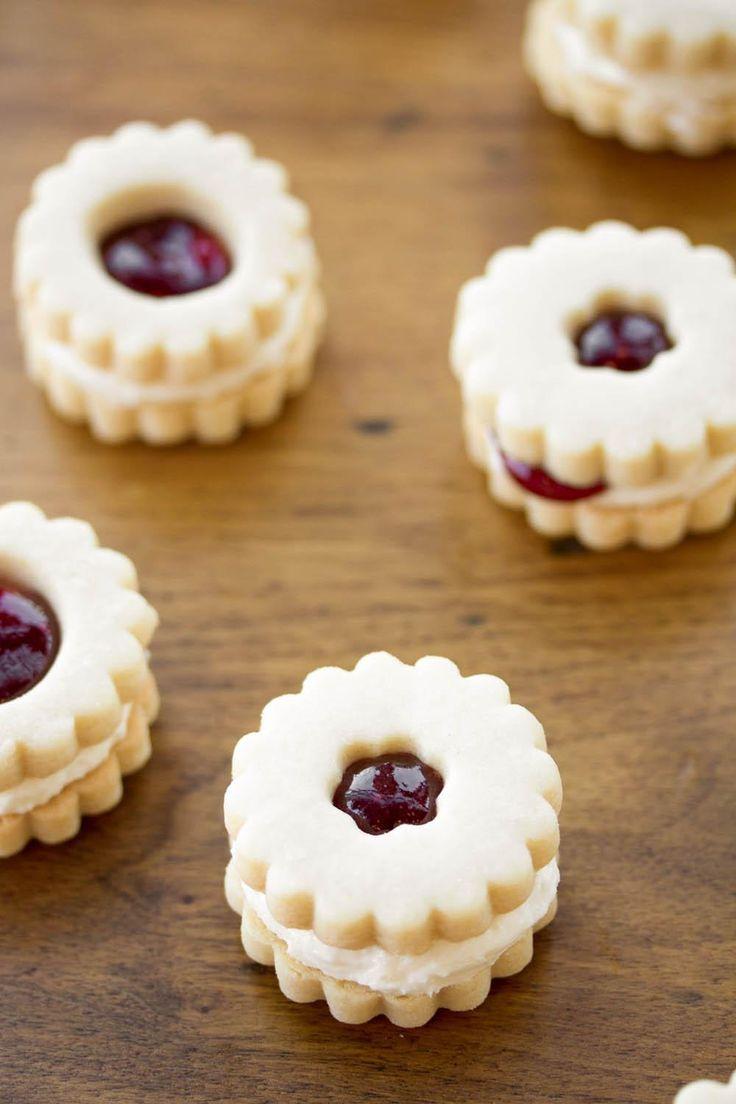 Raspberry Cream Shortbread Sandwich Cookies | Tasteseekers Kitchen