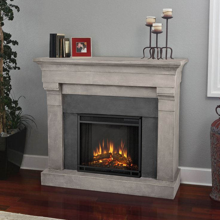 1 278 real flame torrence cinder stone electric cast fireplace