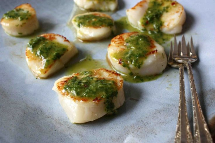 Seared Scallops with Chimichurri Dressing | Tasty Kitchen: A Happy ...