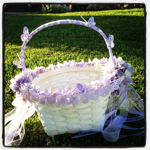 Flower Girl Baskets Diy : Diy flower girl basket ashley s wedding