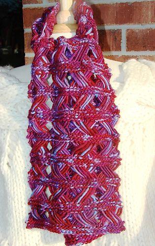 Crossed Drop Stitch Scarf