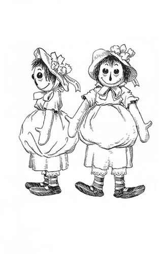 Raggedy ann and andy coloring pages dibujos for Raggedy ann and andy coloring pages