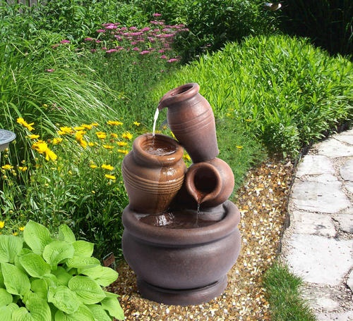Pot Fountain Flower Garden Ideas Pinterest