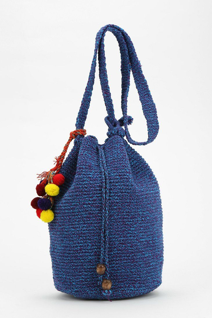 Crochet Bucket Bag : Stela 9 Crochet Beach Bucket Bag