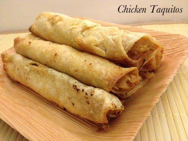 Chicken taquitos | Creative Kitchen ~ EASY Chicken Taquito recipe. www ...