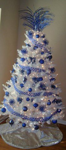 my blue and white tree