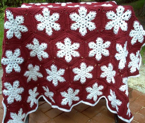 Snowflake Afghan Crochet It Pinterest
