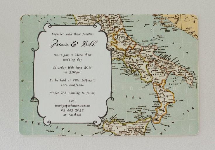World Map Wedding Invitation