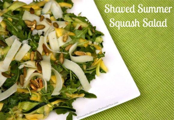 Shaved Summer Squash Salad | Divine Health