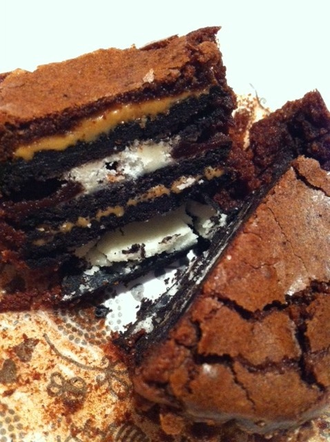 Oreo and Peanut Butter Brownie Cakes | Desserts | Pinterest