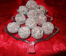 Rum Balls: Devilishness rum flavored chocolate balls.
