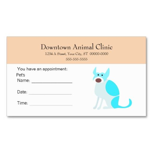 Veterinary Appointment Card Business Card Template