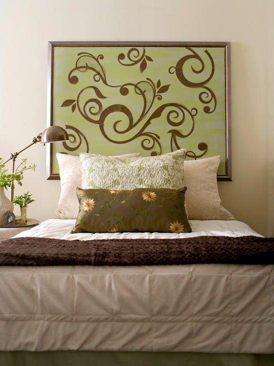 Cheap and chic diy headboard ideas for Painted headboard