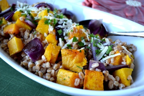 Butternut Squash and Farro Salad | Lunch | Pinterest