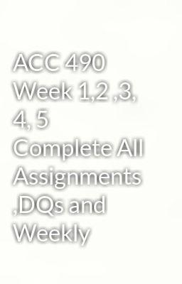 acc 490 week 4