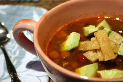 black bean tortilla soup   Soups and Stews   Pinterest