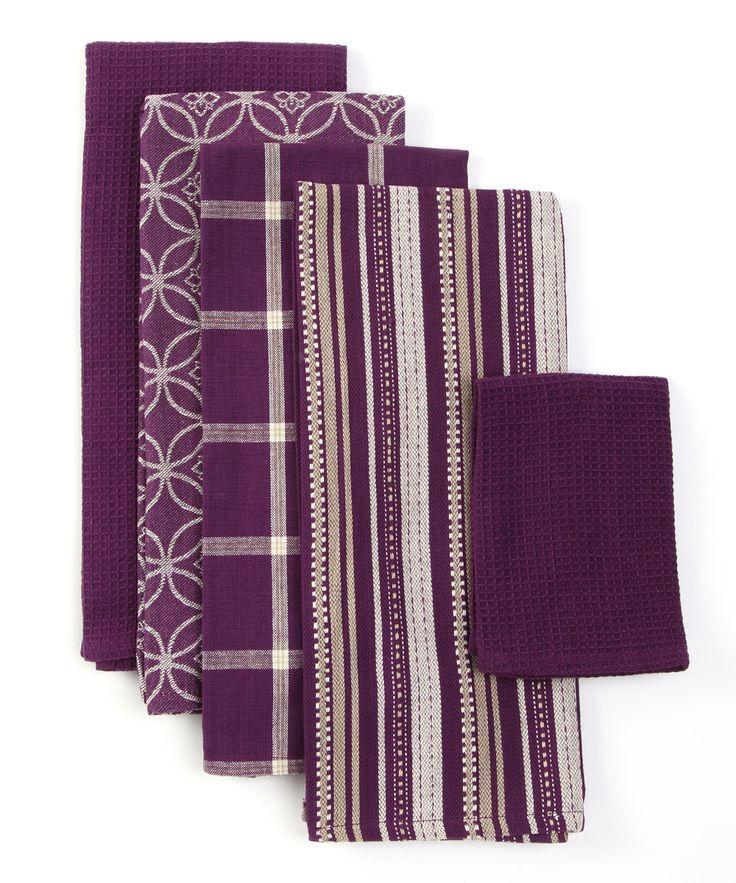 purple kitchen towel set purple kitchen