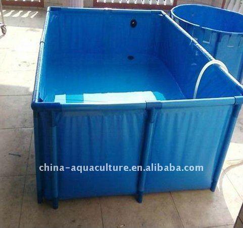 Foldable water tanks for fish farm aquaponics for Fish farm tanks