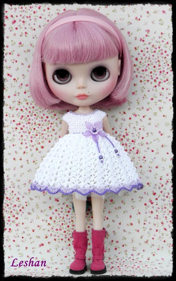 Crochet Hat Pattern For Blythe : Midland Cave NCB: Blythe Beautiful Crochet Dress by / dogs ...