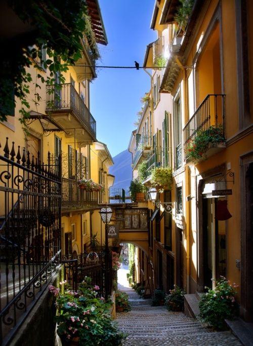 Balconies, Bellagio, Lake Como, Italy