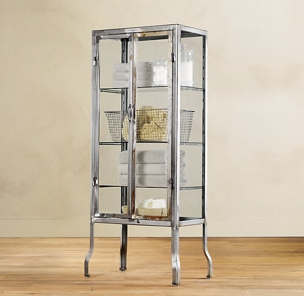 Unique The 1930s Laboratory Collection Is An Unusual Set Of Bathroom Furniture It Was Designed By Restoration Hardware And  This Is A Collection Of Vanities And Storage Cabinets And They All Feature Zinc Hardware And Customizable Italian