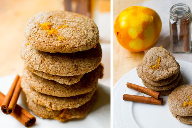 orange spice cookies vegan