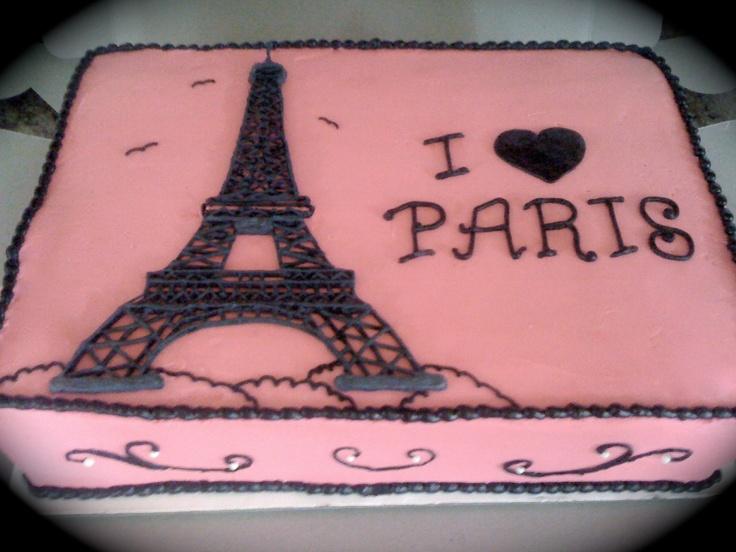paris themed birthday cakes