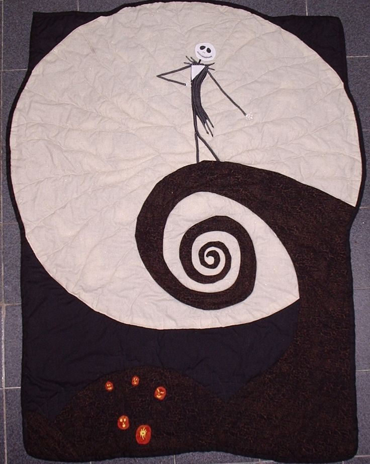 commissioned Nightmare Before Christmas Quilt!