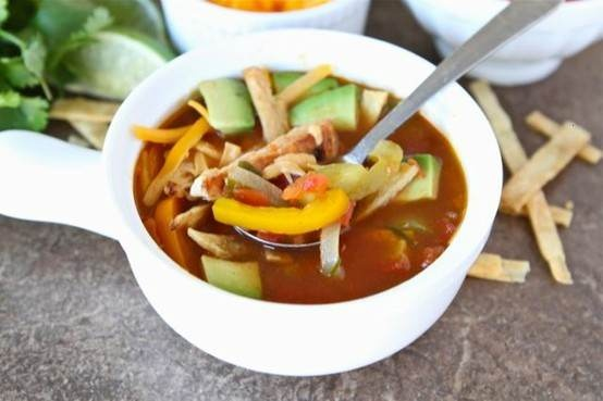 Chicken fajita soup | Mexican Food | Pinterest