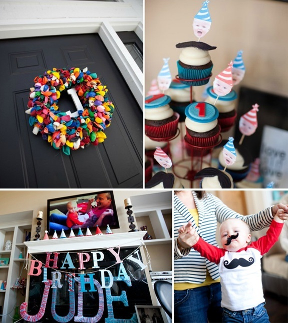 Boy first birthday mustache party idea 8 year old party for 1st birthday decoration ideas for boys