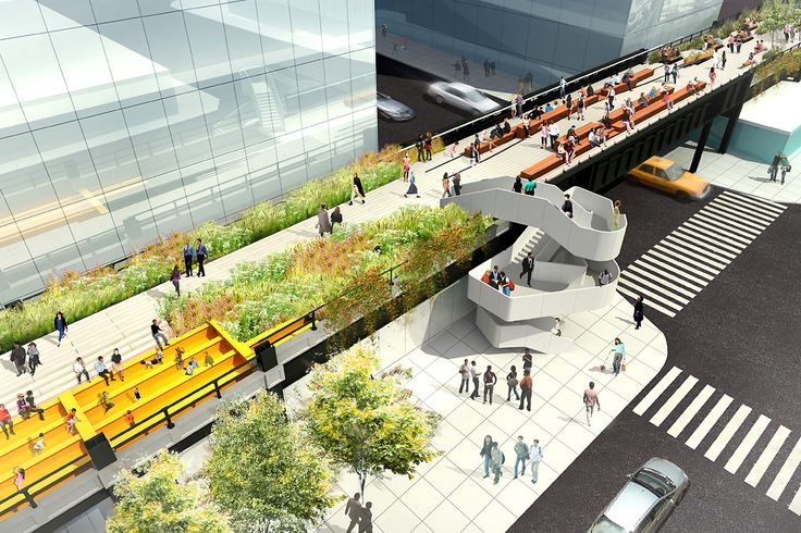 hot new staircase planned for the final section of the high line, via @binx