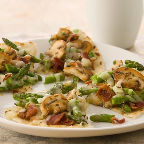 Asparagus and Mushroom Quesadillas. This simple recipe transforms ...