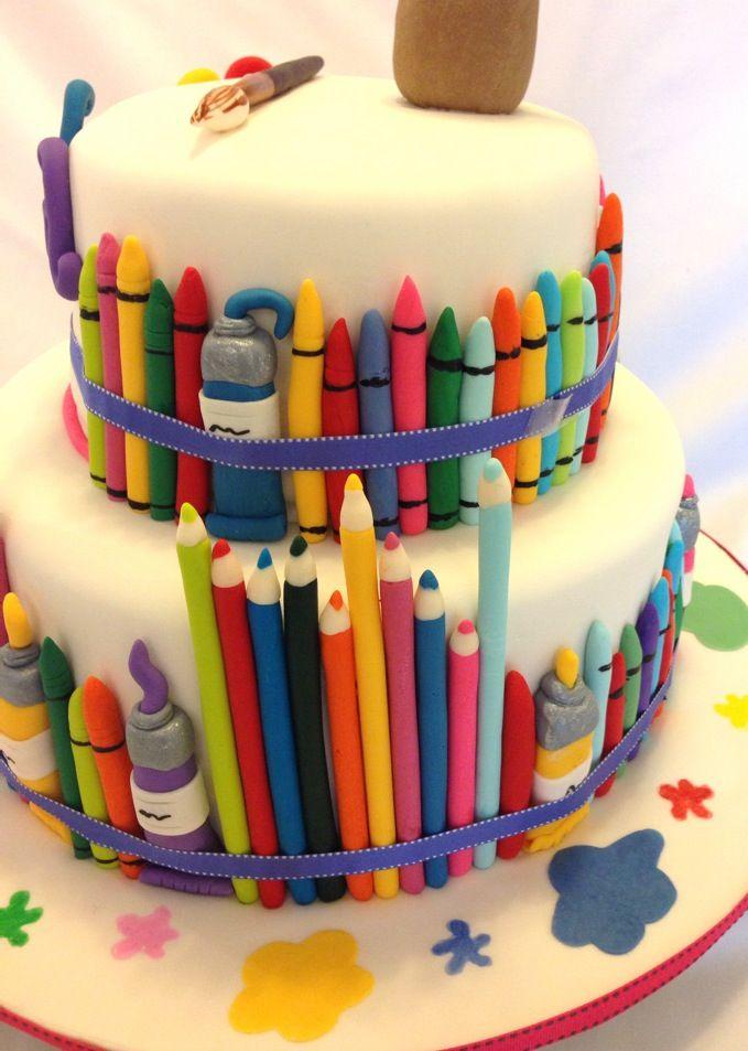 Art themed cake Birthday Party Ideas Pinterest