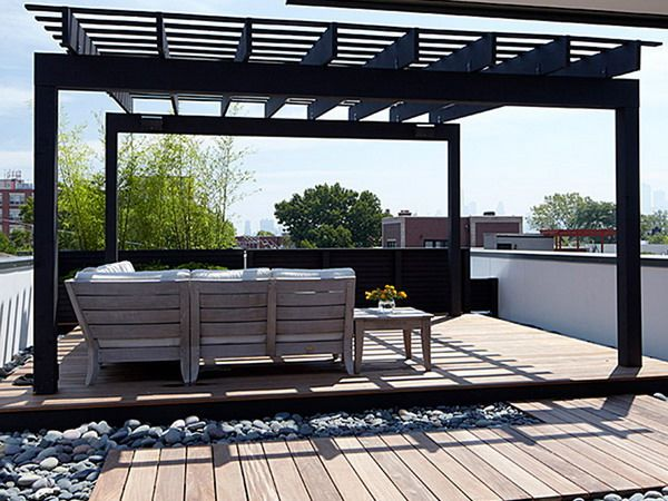 Pin by kristin zuro on bluff ideas pinterest for Garden decking with roof