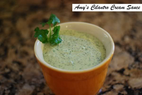 Cilantro Cream Sauce. A great dipping sauce for Southwestern Eggrolls ...
