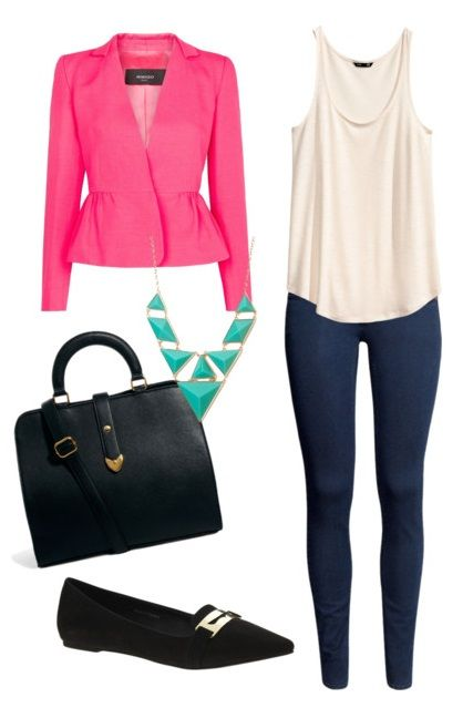 Basics with statement pieces http://berrytrendy.com/2014/01/18/ready-in-20-minutes/