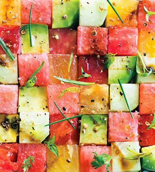 avocado watermelon salad.