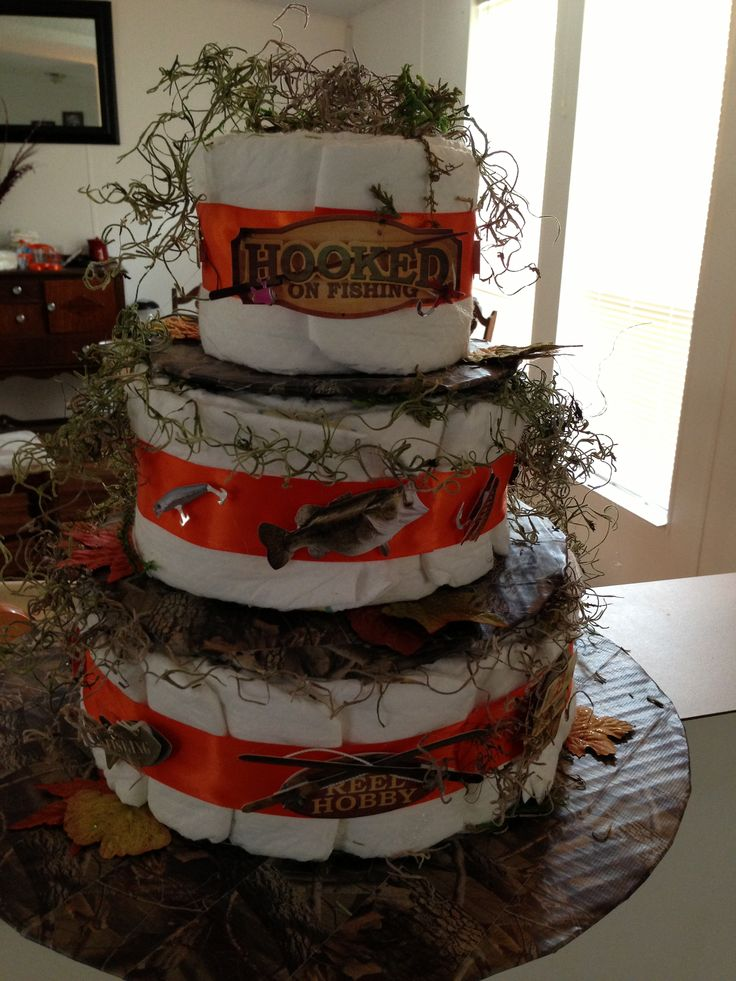 Camo Fishing Baby Cake Ideas And Designs