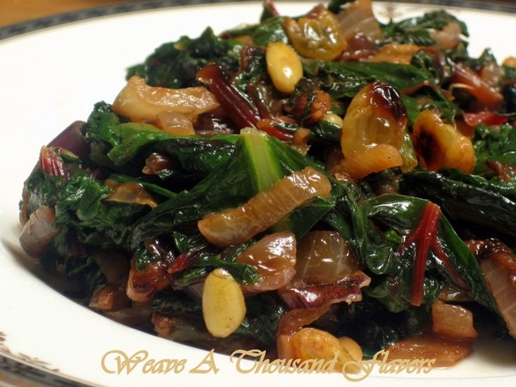 Sauteed Chard With Pine Nuts Recipe — Dishmaps