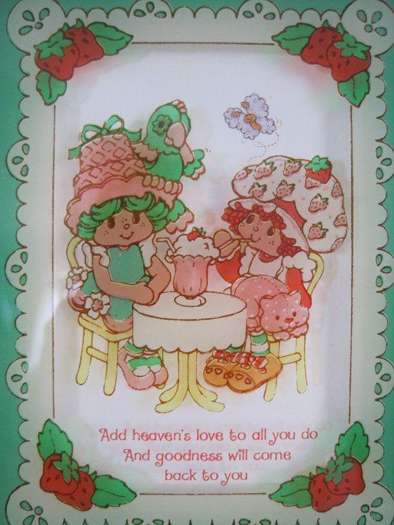 Vintage Strawberry Shortcake Picture on Glass by sofreshsovintage, $12 ...