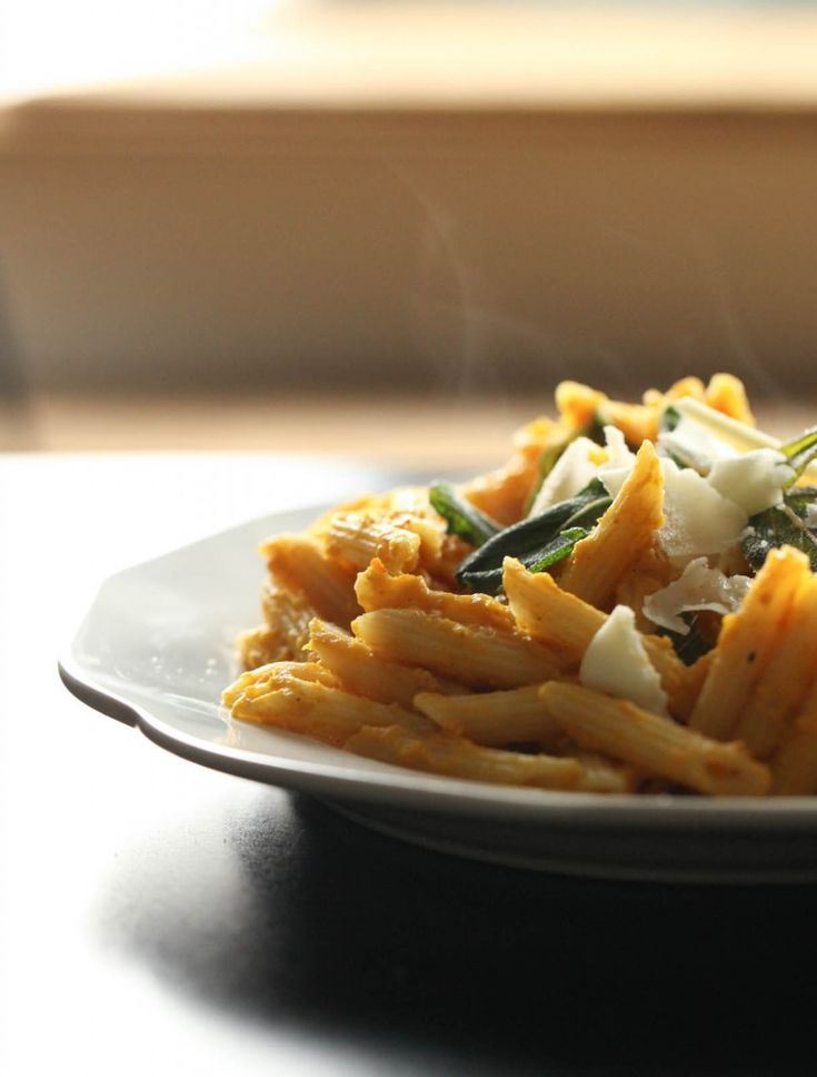 Creamy Pumpkin Pasta with Crispy Sage. This will be perfect next ...