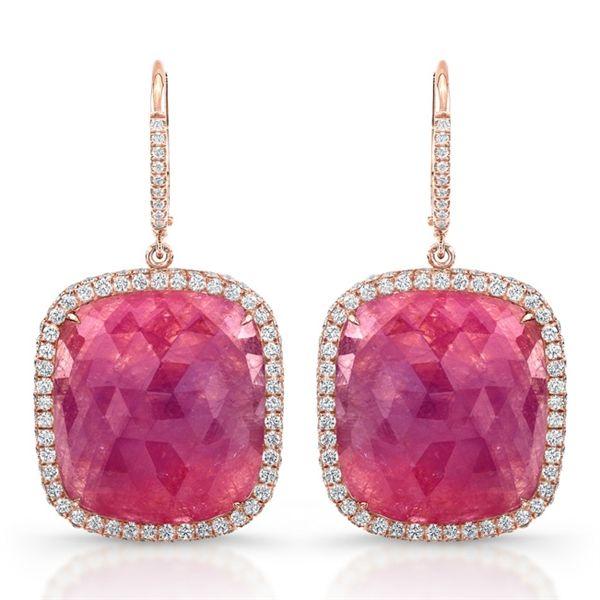 Pink Sapphire Earrings ~From Rahaminov Diamonds