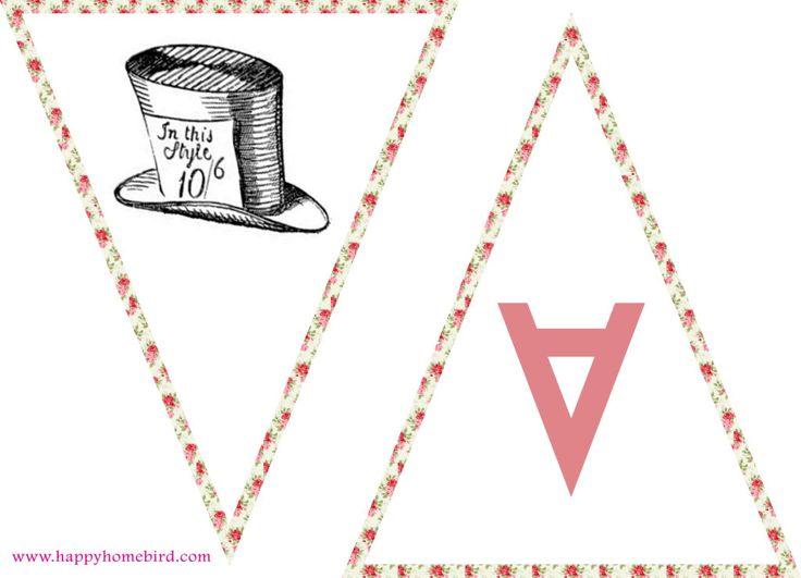 alice in wonderland free printables tea cups