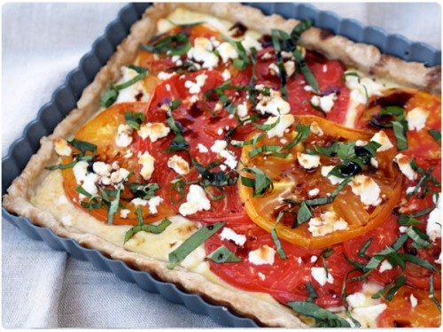 Three Cheese Tomato Tart Recipe — Dishmaps
