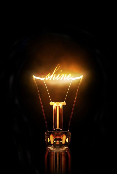 Image idea: a lightbulb with my name written in it?