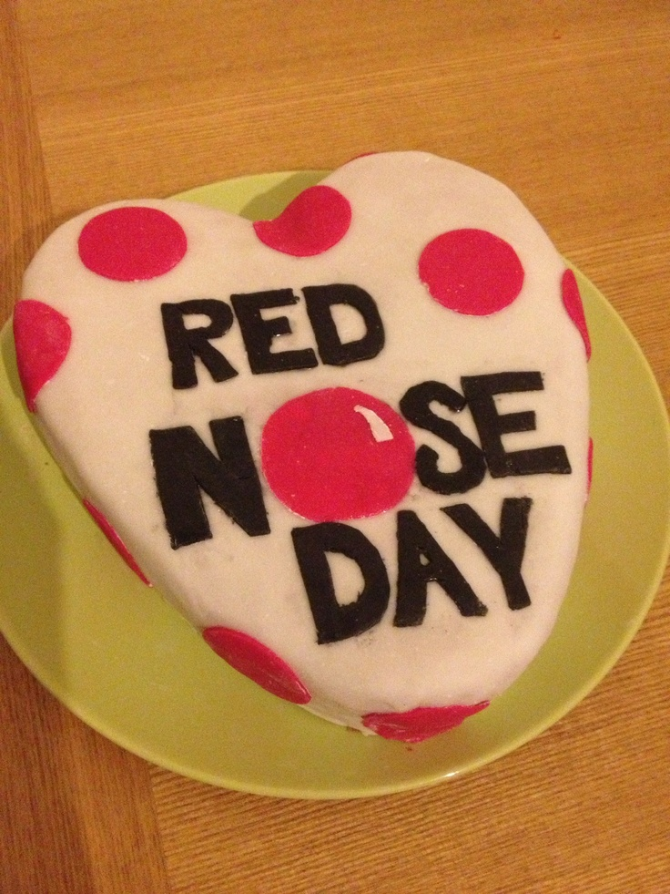 Cake Designs For Red Nose Day : Red Nose Day cake Cakes Pinterest