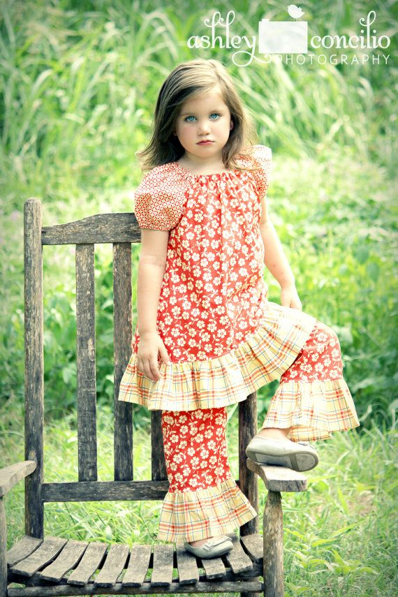 Peasant Dress for Girls Summertime Collection by BoutiqueElliEtte, $34
